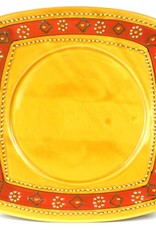Global Crafts Plate Square 25cm Encantata GM Pottery