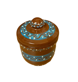Global Crafts Sugar Bowl, Encantada HM Pottery Chocolate