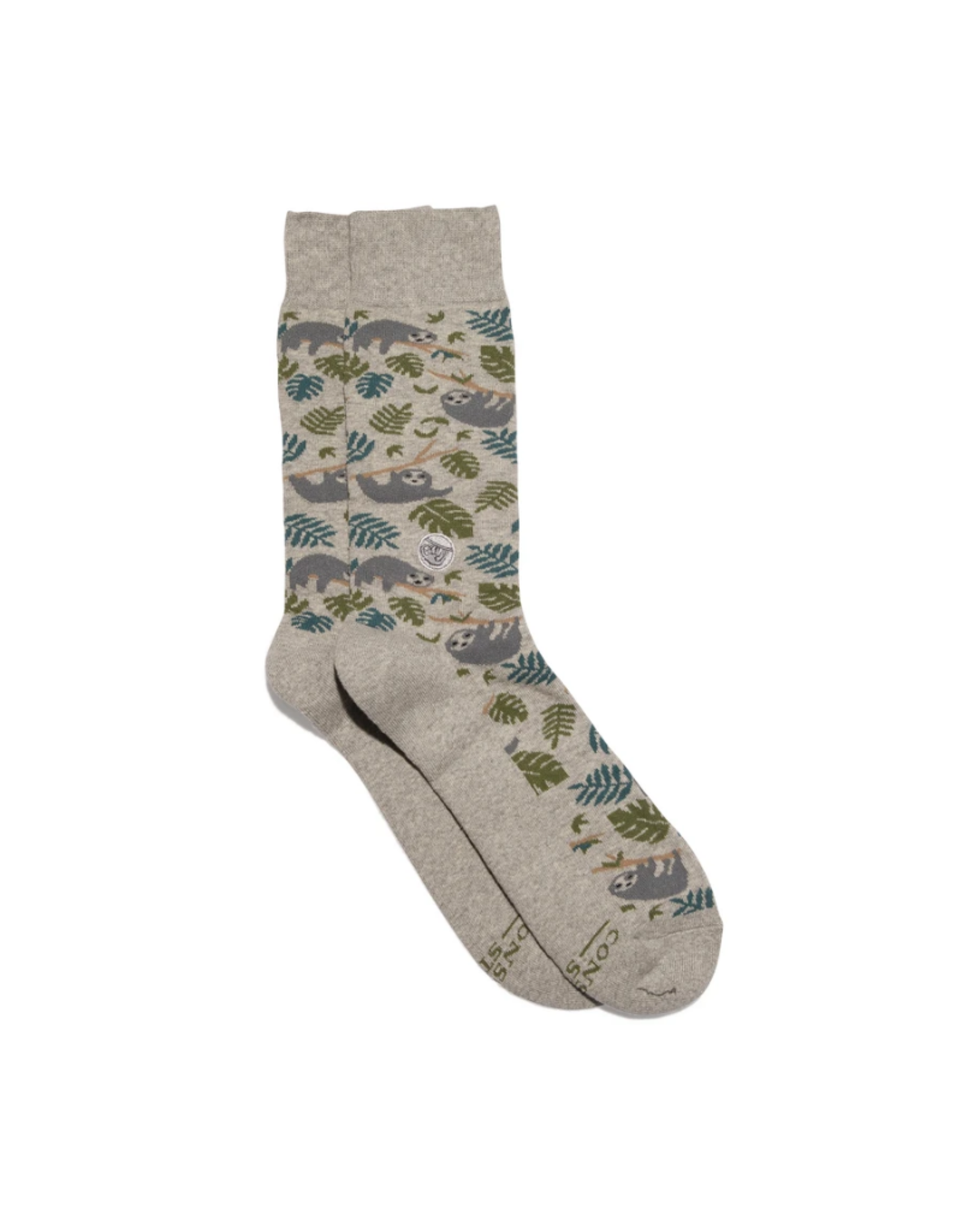 Conscious Step Socks that Protect Sloths (Medium)