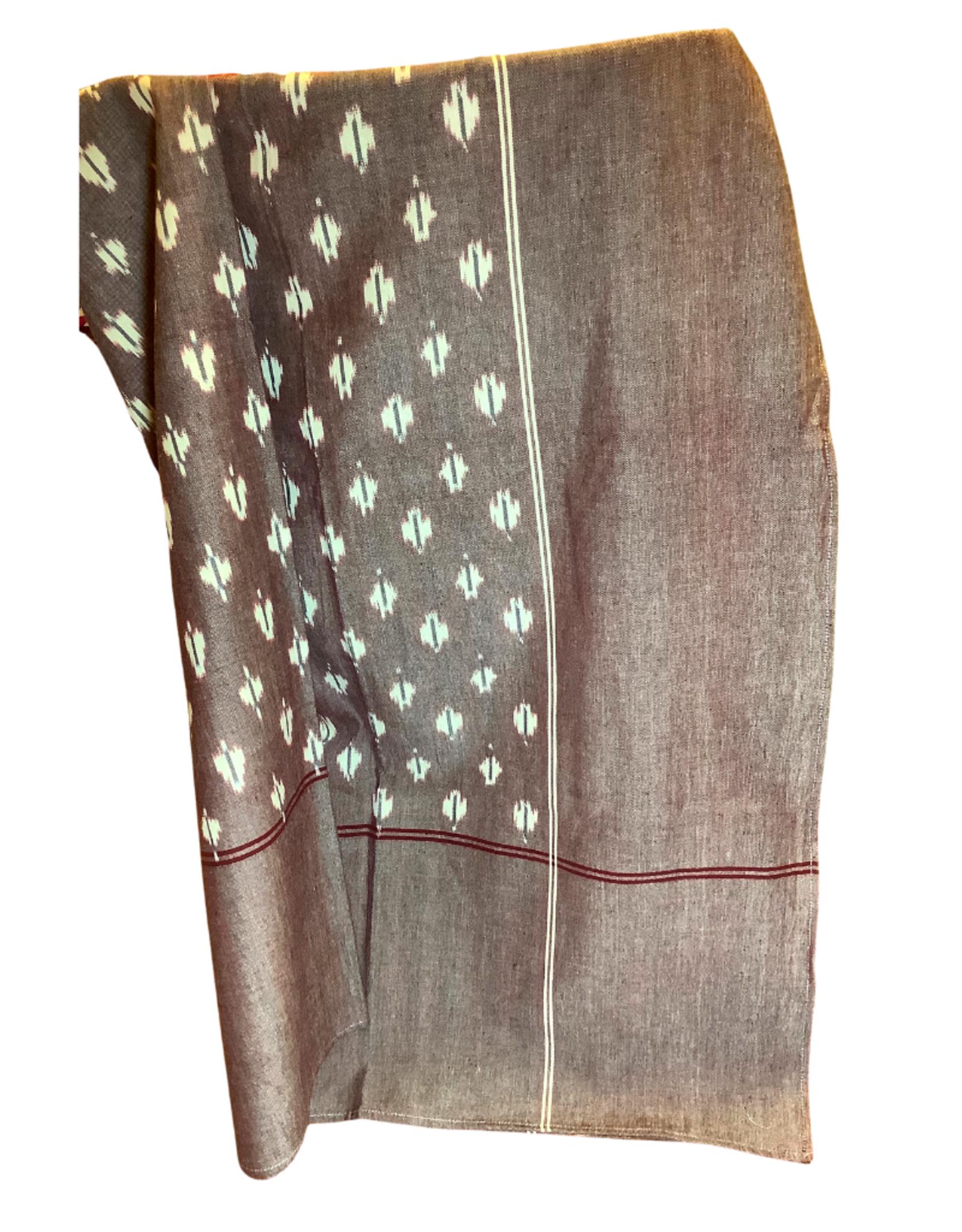 "Tablecloth, Cranberry Ikat, 152cm x 228cm / 60"" x 90"""