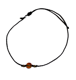 Bracelet, Linen cord with stone, assorted - Mexico