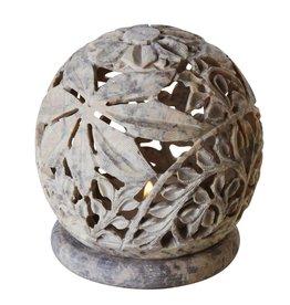 TTV USA Stone Globe Candleholde
