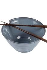 TTV USA Chopsticks & Blue Bowl Set