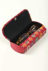 TTV USA Hearts Leather Glasses Case