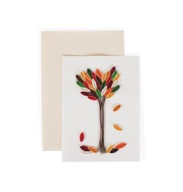 TTV USA Quilled Card Falling Leaves - Vietnam
