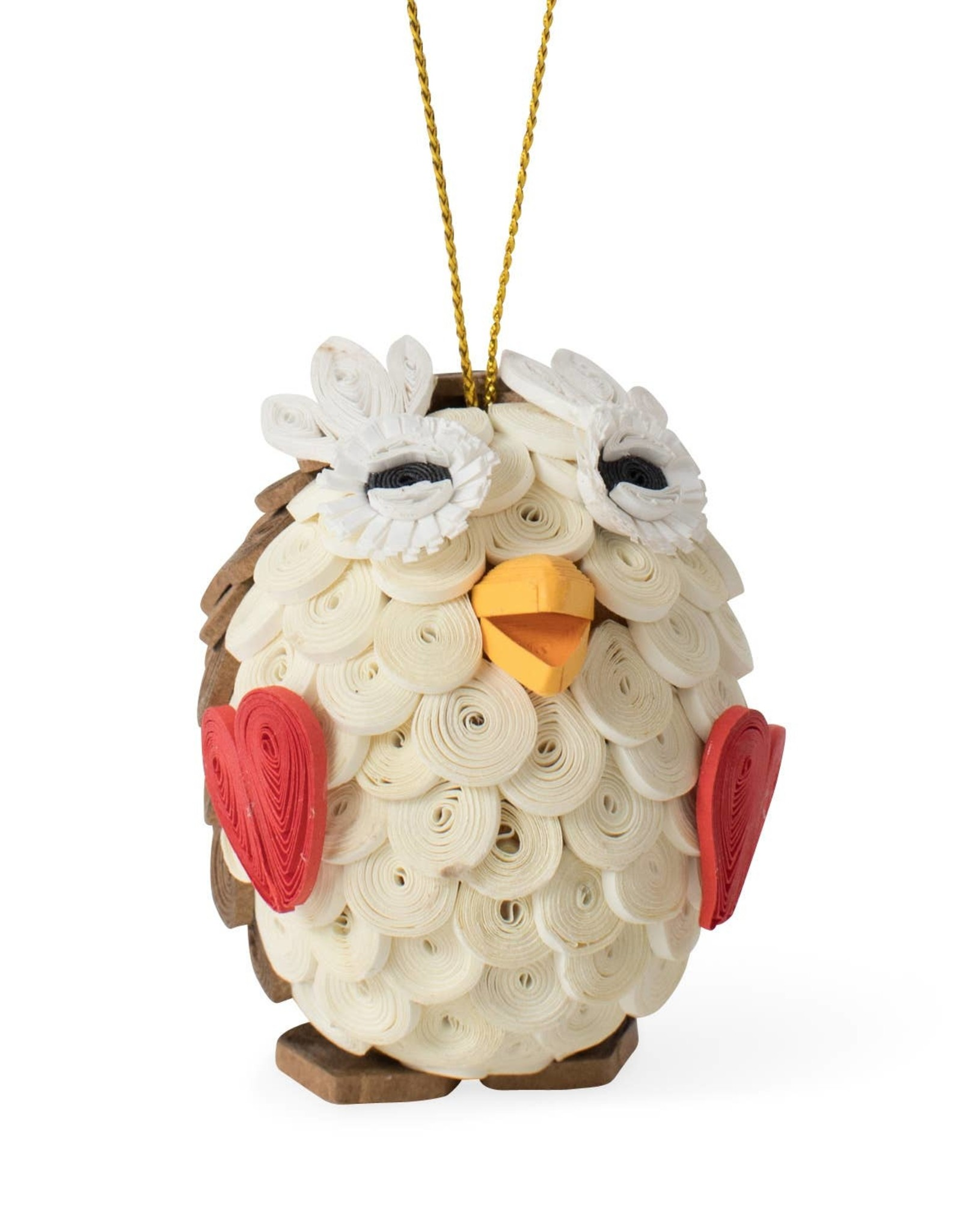 TTV USA Quilled Owl Ornament