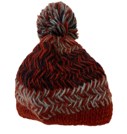 Fire and Ice Knitted Wool Hat - Nepal