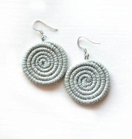 Soko Home Disc Earrings, Small Ice Blue - Rwanda