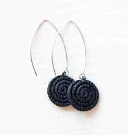 Soko Home Ziga Earrings Black - Rwanda
