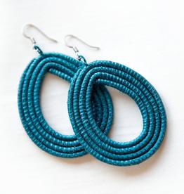 Soko Home Loop Earrings Celestial Blue - Rwanda