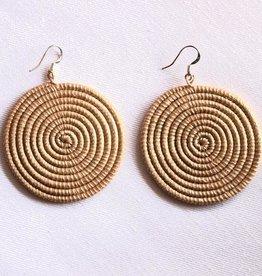 Soko Home Disc Earrings, Large Tea - Rwanda