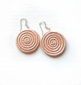 Soko Home Disc Earrings, Small- Blush