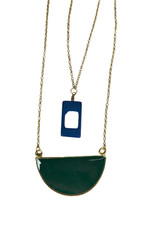 Ten Thousand Villages Tiers of Shapes Necklace