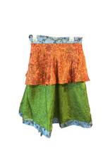 "Skirt Wrap Recycle Silk 18"" long"