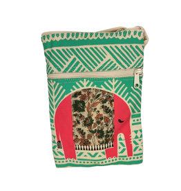 Ten Thousand Villages Bag, Shoulder Ntl/Red Elephant Cotton Canvas