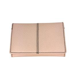 Ten Thousand Villages Wallet Blush w/overlay Buffalo Leather