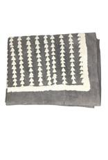 Ten Thousand Villages Tablecloth Dk Gry/Ntl Stripe Cotton 228cm x 150 cm