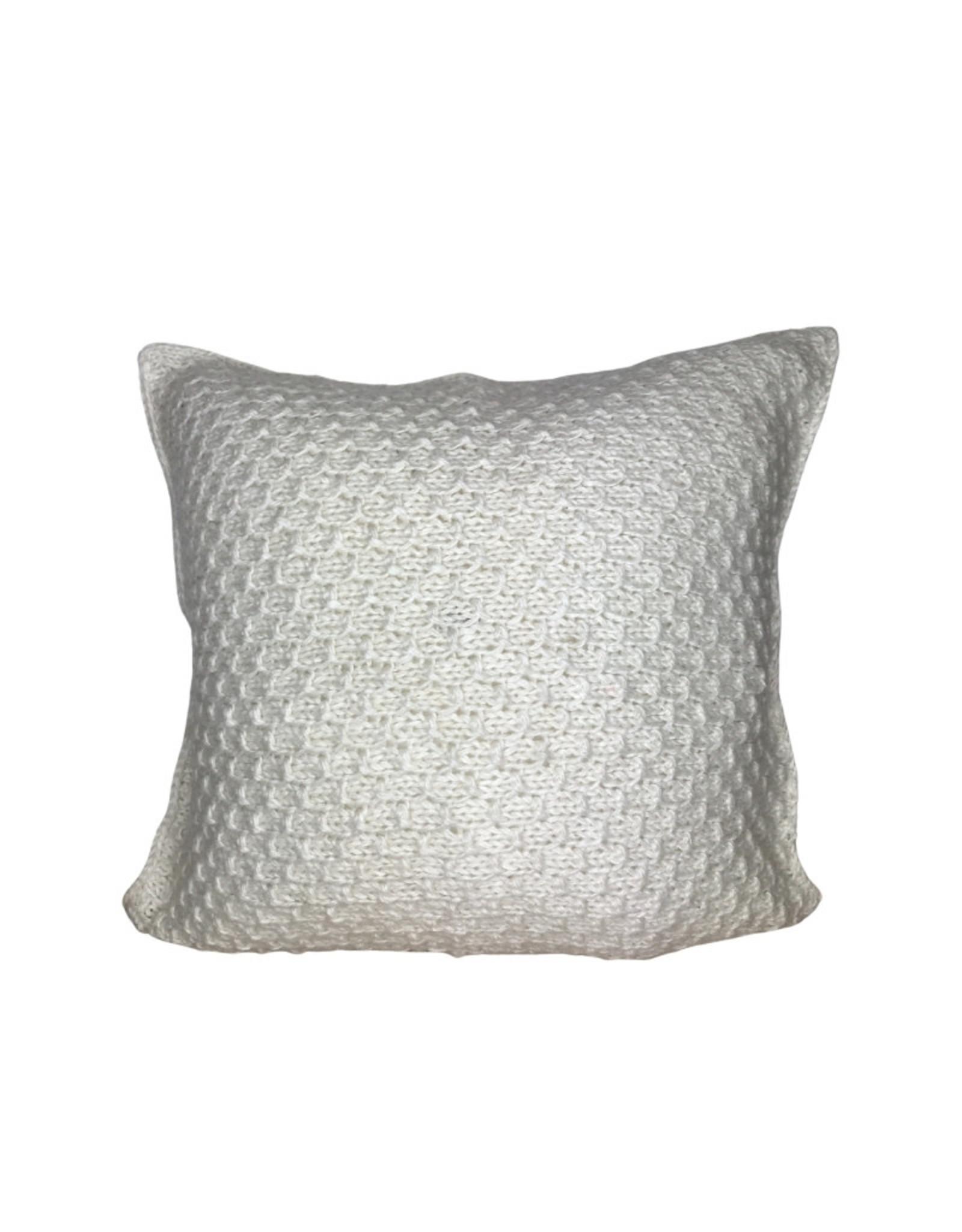 Ten Thousand Villages Cushion Nat Jamuna Stitch Banana Fiber/Wool