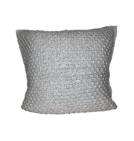 Ten Thousand Villages Cushion Gry Jamuna Stitch Banana Fiber/Wool