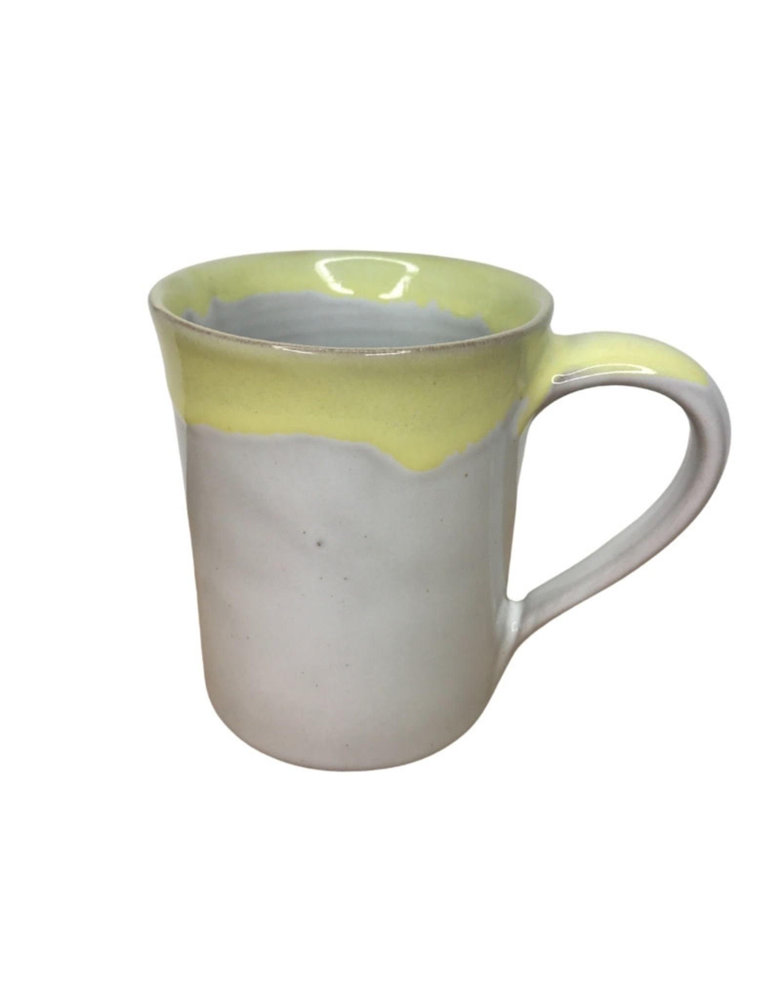 Ten Thousand Villages Mug Yellow Drip Stoneware - Nepal