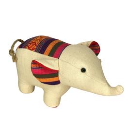 Ten Thousand Villages Stuffed Elephant Toy Large