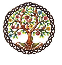 Global Crafts Rooted Tree of Life Metal Wall Hanging