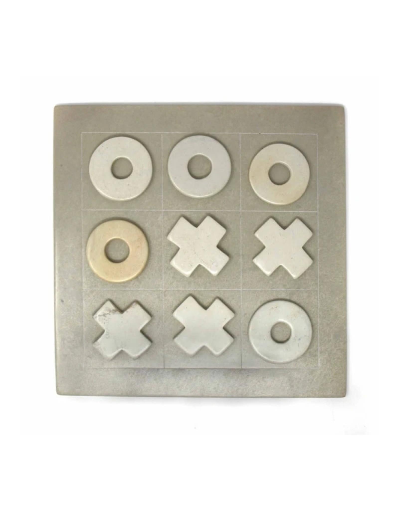 Global Crafts Soapstone Tic-Tac-Toe Set