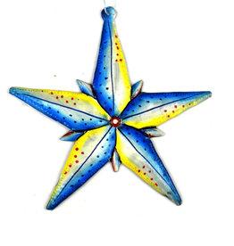 Global Crafts Star Bright Haitian Metal Ornament