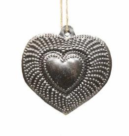 Global Crafts Heart Radiant Haitian Metal Ornament