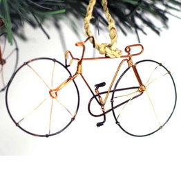 Global Crafts Bicycle Recycled Wire Ornament