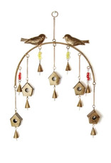 Global Crafts Bird Chime Recycled Iron