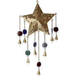 Global Crafts Star Ornate Chime Recycled Iron