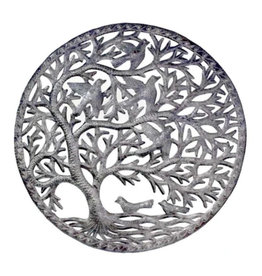 Global Crafts Tree of Life Stormy Haitian Metal Wall Art