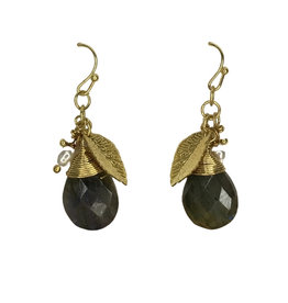Earrings Gold Color/Pearl/Charm/Bead Drop