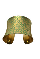 Joyful Geo Brass Cuff