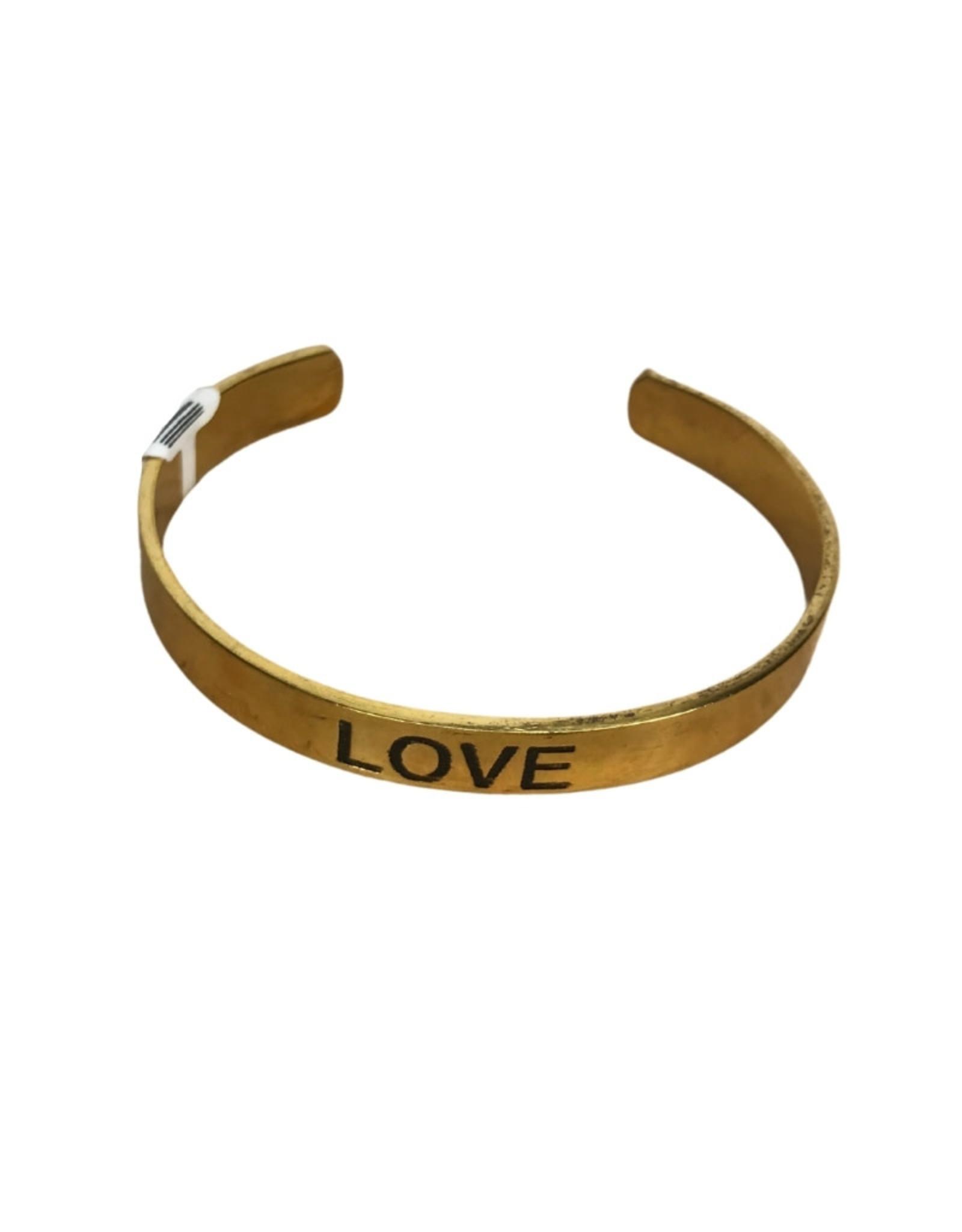 Brass Love Cuff