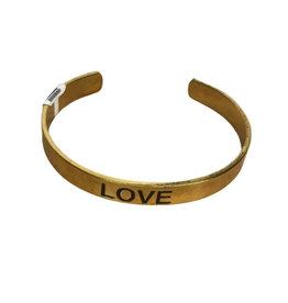 Brass Love Cuff - India