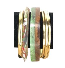 Bracelet Set of 5 Gold/Multicolour