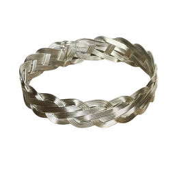 Bracelet silver colour Braided - India