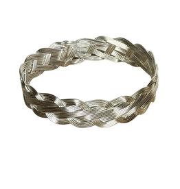 Bracelet silver colour Braided