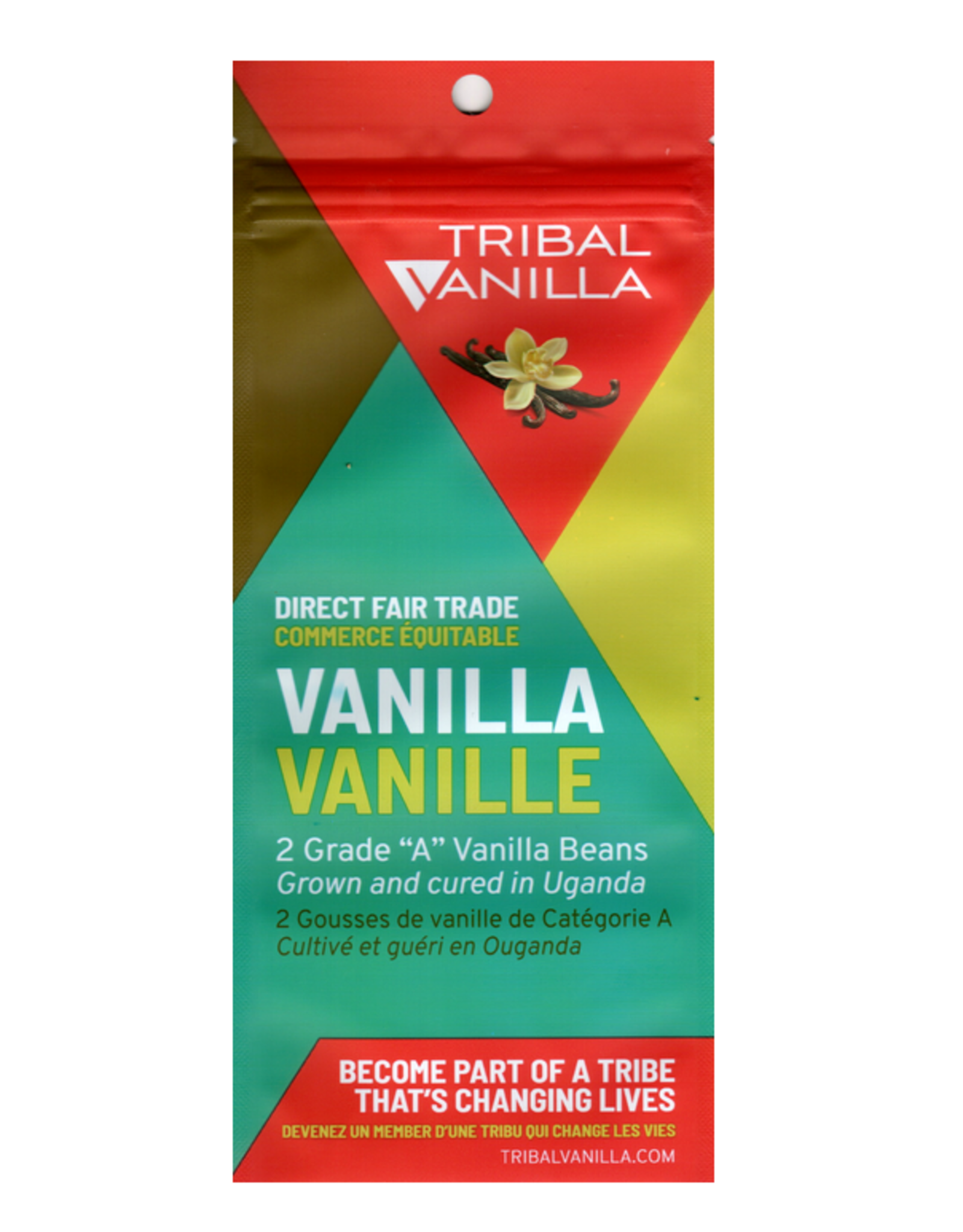 Tribal Vanilla Grade A Vanilla Beans pkg 2