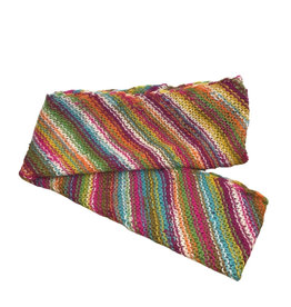 Ten Thousand Villages Striped Multi Colour Wool Infinity Scarf