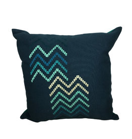 Ten Thousand Villages Divided Chevron Embroidered Cushion Cover