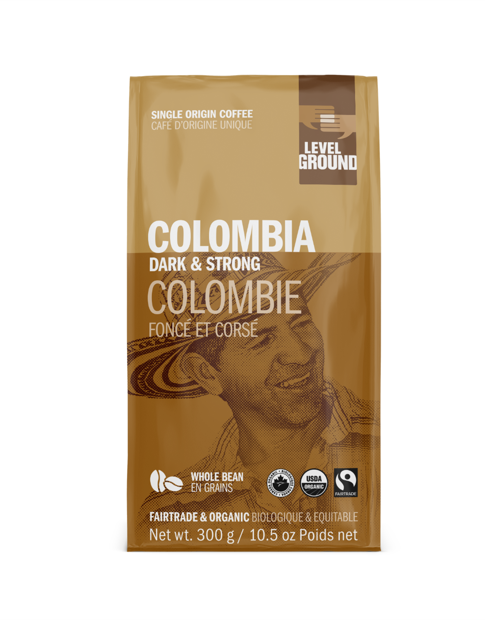 Level Ground Coffee, Colombia Dark & Strong, Bean 300g