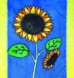 Eco Fair Sunflower Greeting Card Batik