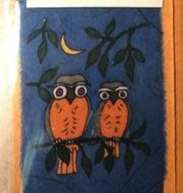 Eco Fair Owl Greeting Card Batik