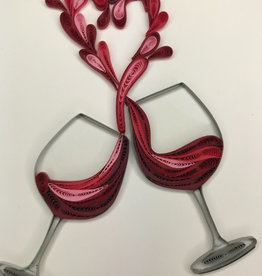 Kalyn Imports Quilled Card A Toast of Love