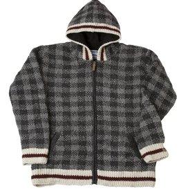 Ark imports Checker Cardigan Grey (M)