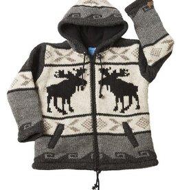 Ark imports Kids Moose Cardigan Natural (L/XL)