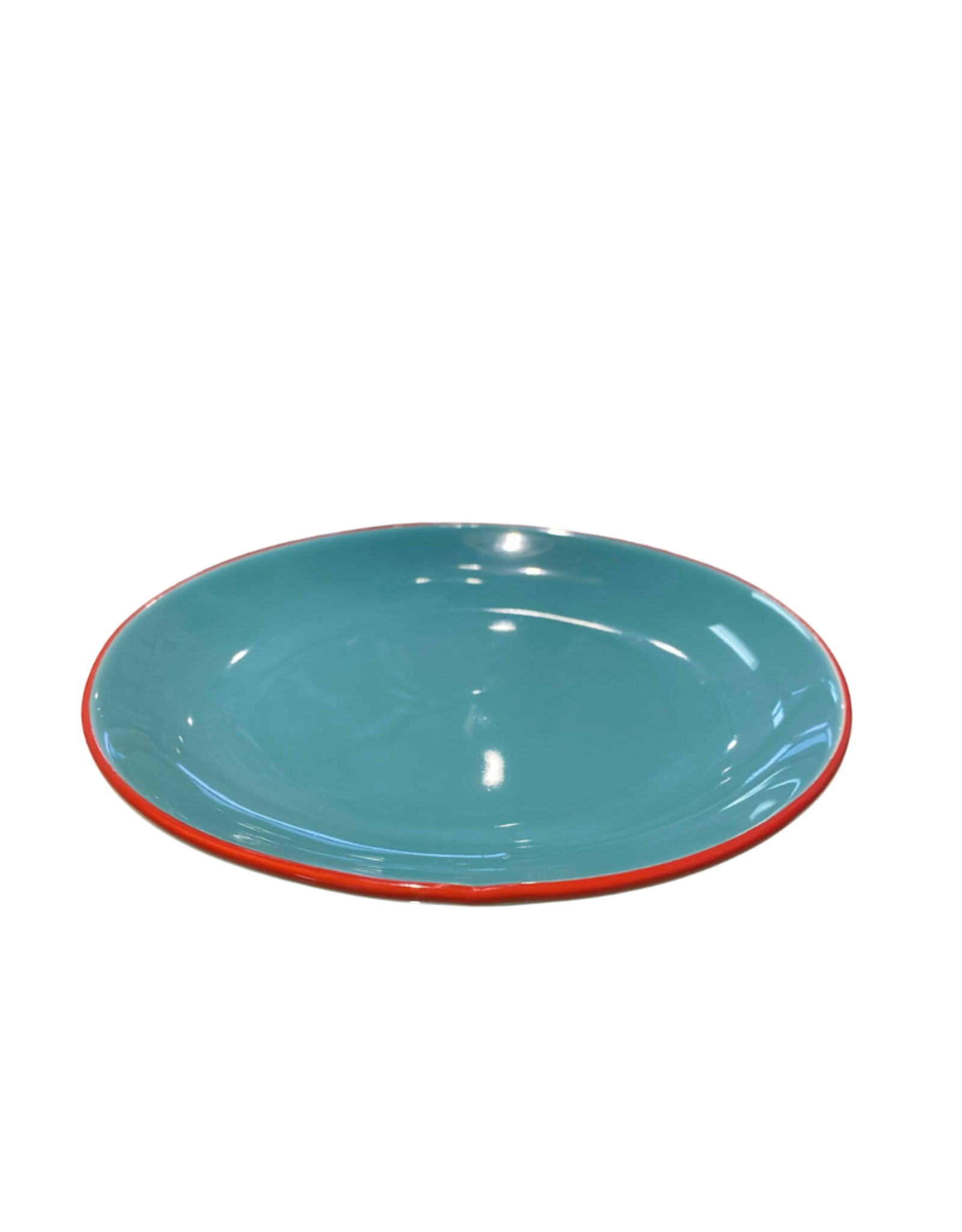 Eco Fair Pottery Plate Turquoise